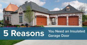reasons insulated garage doors twin cities