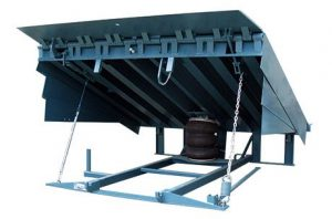 air-powered dock leveler