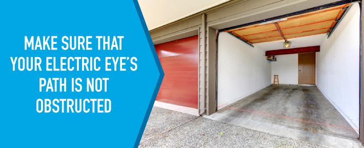 Garage door electric eyes with nothing blocking path